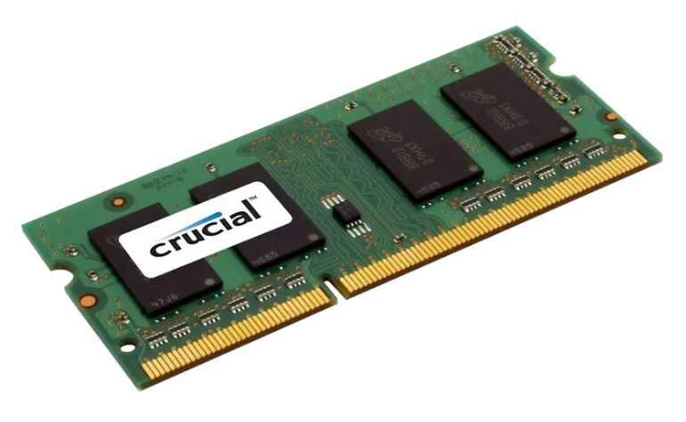 Crucial 8GB SO-DIMM DDR3L PC3-12800 CL11 Arbeitsspeicher für 26,94€inkl. Versand (statt 42€)