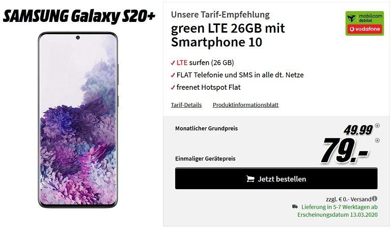 Samsung Galaxy S20+ Vodafone Allnet Flat mit 26GB LTE