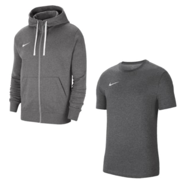 Nike Freizeit Outfit (Jacke & Shirt) in vers. Farben für 43,95€ inkl. Versand (statt 54€)