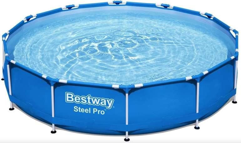 Bestway Steel Pro Frame Pool Set mit Filterpumpe (366 x 76 cm) für 69,90€ inkl. Versand (statt 99€)