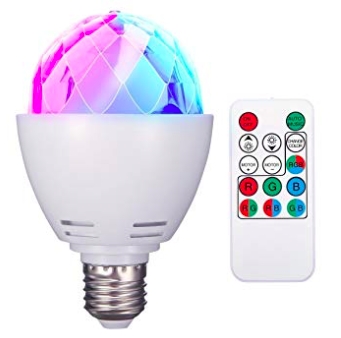 Elegiant Discokugel E27 RGB LED Birne zur Partybeleuchtung für 10,99€ mit Prime