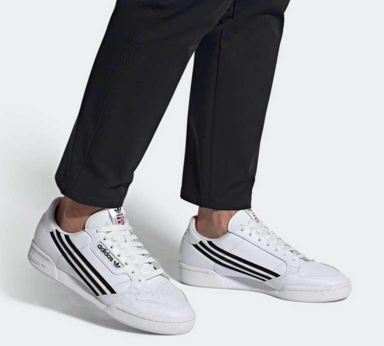 adidas Herren Continental 80 in Weiß/Schwarz für 48€ inkl. Versand (statt 78€)
