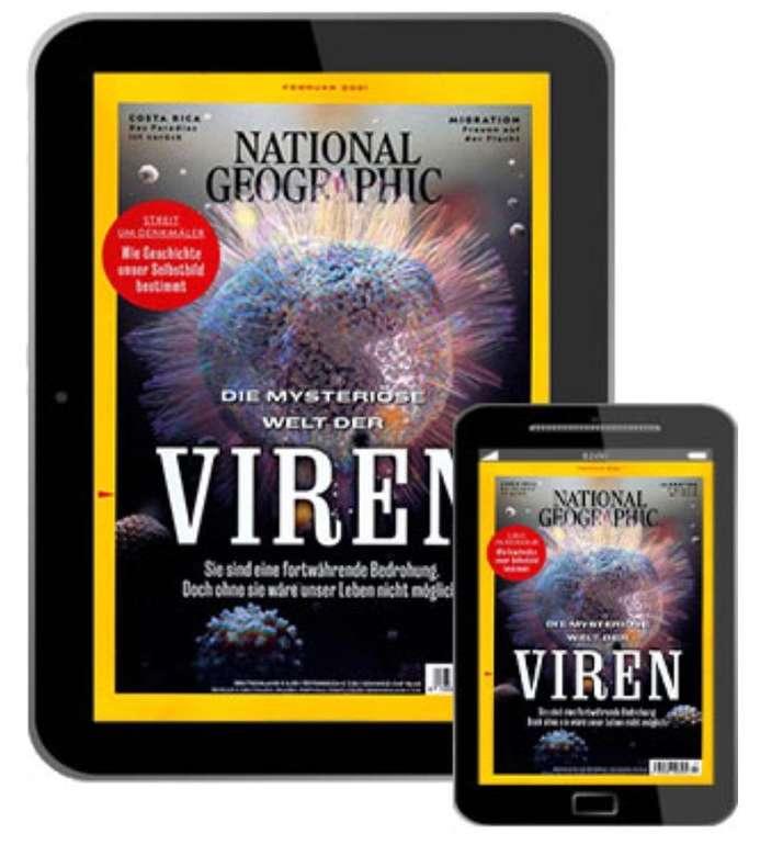 National Geographic e-Paper Jahresabonnement mit 12 Ausgaben für 49,96€ + 50€ Bestchoice Gutschein
